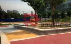 石家庄彩色沥青路面--天山九峯园区彩色沥青消防道