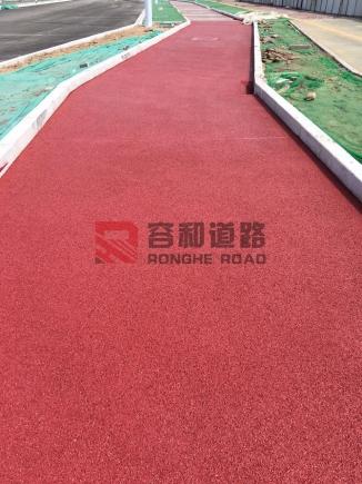 石家庄正定湖南道彩色压印地坪、透水地坪工程完美竣工